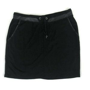 S. Oliver Mini Skirt Faux Leather Trim Stretchy